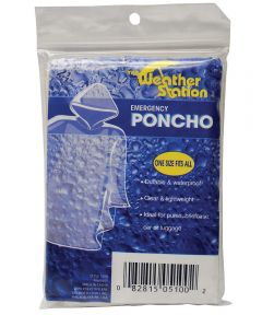 Clear Emergency Rain Poncho