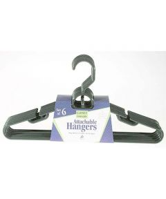 Heavy Duty Tubular Hangers with Attachable Hooks, 6 Pack