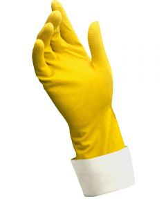 Medium Yellow Caring Hands Latex Gloves 2 Count