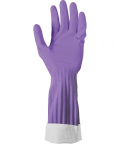 Small Soft Scrub Premium Defense Purple Rubber Gloves