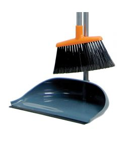 Stationary Upright Sweep Set with Broom and Dustpan