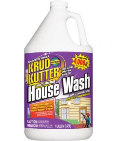 Krud Kutter House Wash Cleaner, 1 gal, Bottle, Clear, Liquid