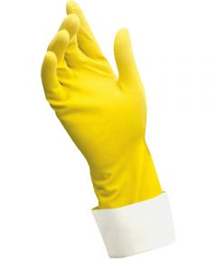 Small Yellow Caring Hands Latex Gloves 2 Count