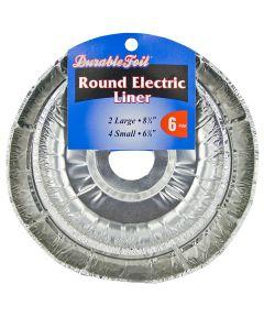 Round Electric Burner Liner Set 6 Count