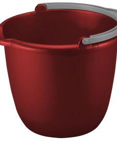 10 Quart Red/Titanium Spout Pail