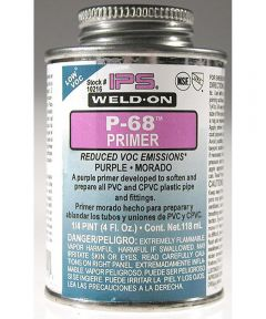 1/4 Pint Purple Weld-On P-68 Primer Cements