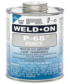 1/2 Pint Purple Weld-On P-68 Primer Cements