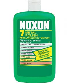 Noxon7 Metal Polish, 12 oz Bottle, Liquid, Off-White/Tan