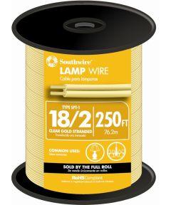 Gold 18 Gauge 2 Wire Lampwire (Sold Per Foot)