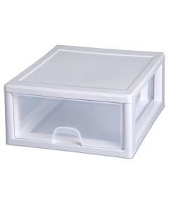 Sterilite 16 Quart Stacking Storage Drawer, Clear