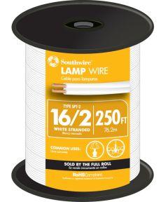 White 16 Gauge 2 Wire Lampwire (Sold Per Foot)