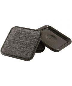 1-3/4 in. Gray Square Carpet Caster Cups 4 Count