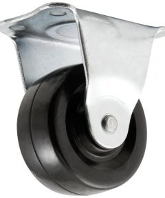 2 in. Rubber Plate Rigid Caster