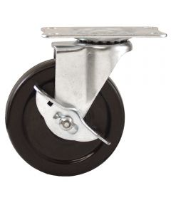 4 in. Rubber Plate Swivel Caster With Brake