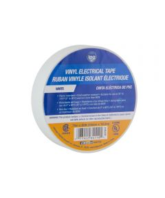 Vinyl Electrical Tape, White/Clear