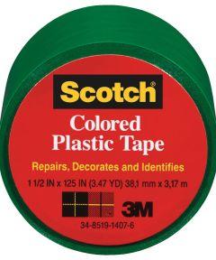 1-1/2 in. x 125 in. Scotch Green Plastic Tape