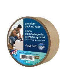 Premium Brown Paper Packing Tape, 60yd.