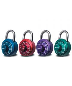 Combination Lock with Anondized Body, Assorted Colors