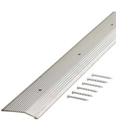 1-3/8 in. x 72 in. Silver Wide Fluted Carpet Trim