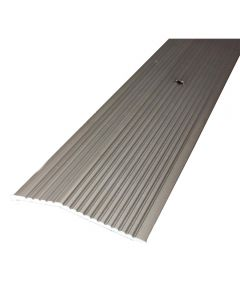 2 in. x 36 in. Pewter Fluted Extra Wide Carpet Trim