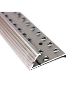 1-3/8 in. x 72 in. Pewter Aluminum Floor/Carpet Gripper With Teeth