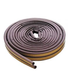 17 ft. Brown Extreme Temperature P Profile Weather Strip