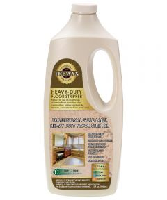 Trewax Instant Water Based Floor Wax Stripper, 32 oz., Clear Green, Liquid, Ammonia