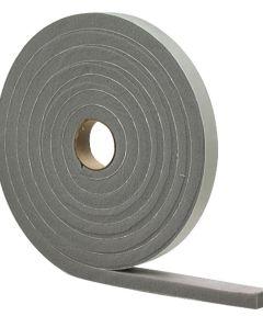 1/2 in. x 10 ft. Gray Waterproof & Airtight Foam Tape Weather Stri