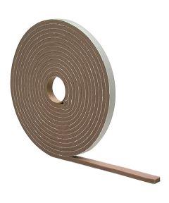 1/4 in. x 1/2 in. x 17 ft. Brown Waterproof & Airtight Foam Tape Weathe
