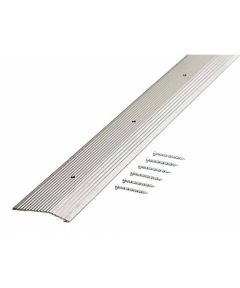 2 in. x 36 in. Silver Fluted Extra Wide Carpet Trim