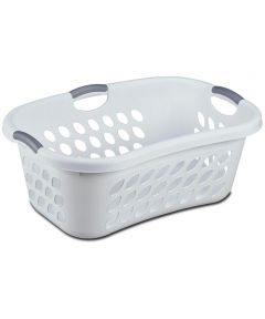 Sterilite Hip Holder Laundry Basket, White