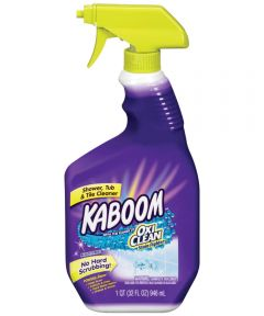 Kaboom Shower Tub/Tile Cleaner With Oxiclean, 32 oz Bottle, Clear Liquid
