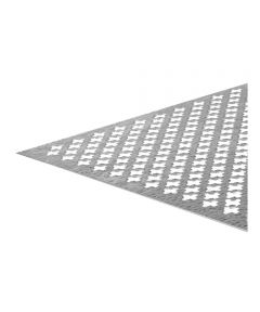 The Steel Works Aluminum Decorative Sheet 24 in. X 36 in. Silver Cloverleaf