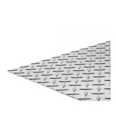 The Steel Works Brite Aluminum Tread Plate 0.063 in. x 12 in. x 24 in.