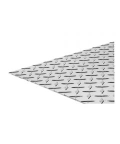 The Steel Works Brite Aluminum Tread Plate 0.1 in. x 12 in. x 12 in.