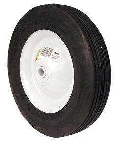 8 in. x 1.75 in. Ribbed Tread Steel Wheel