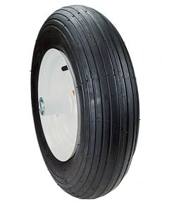 8 in. Wheelbarrow Wheel Assembly, Rib Tread