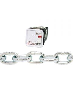 Proof Tested Coil Chain, 1/4 in., 1300 lb, Low Carbon Steel (Sold Per Foot)