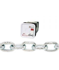 Proof Tested Coil Chain, 3/8 in., 2650 lb, Low Carbon Steel (Sold Per Foot)