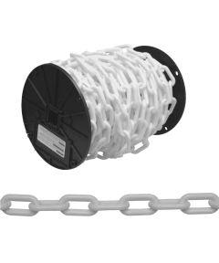 Decorator Chain, NO 8, Plastic, White (Sold Per Foot)