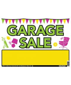 Vibrant Garage Sale Sign 10 in. X 14 in.