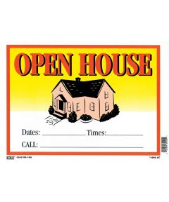 Open House Vibrant Sign 10 in. x 14 in.