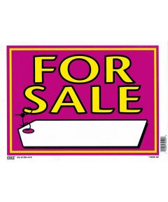 For Sale Vibrant Sign with Price Tag 10 in. x 14 in.