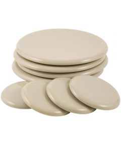 3-1/2 in. & 7 in. Beige Round Reusable SuperSliders 8 Piece Set