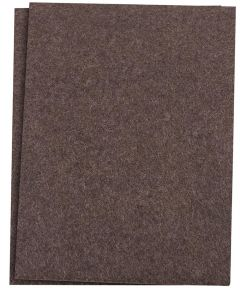 4-1/2 in. x 6 in. Brown Self-Stick Felt Blanket Pads 2 Count
