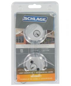 Schlage Double Cylinder Deadbolt, Chrome