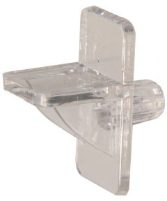 Square Clear Shelf Pin (1/4 in. Pin Length Fits 1/4 in. Hole)