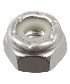 18-8 Stainless Steel Nylon Insert USS Coarse Stop Nut #8-32