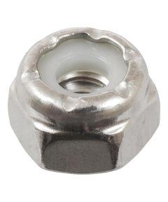 18-8 Stainless Steel Nylon Insert USS Coarse Stop Nut #10-24