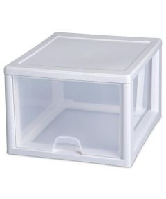 Sterilite 27 Quart Stacking Storage Drawer, Clear